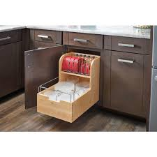 Kitchen Cabinet Storage Bins Rev A Shelf 18 88 In H X 14 5 In W X 21 56 In D Wood Food