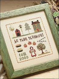10 thanksgiving themed cross stitch patterns