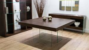 Square Wood Dining Tables Espresso Wood And Glass Square Dining Table