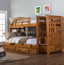 Bunk Beds  Reclaimed Wood Platform Bed Solid Oak Bunk Beds Oak - Solid oak bunk beds with stairs