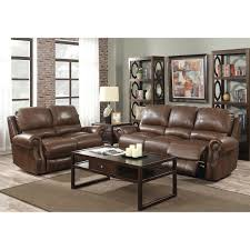 walker brown top grain leather power reclining sofa and loveseat