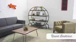 Mantel Bookshelf Round Bookcase World Market