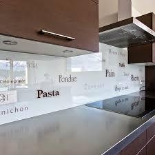 panneau cuisine panneau décoratif en verre pour cuisine lisse personnalisé