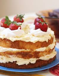 authentic italian cream cake for the feast