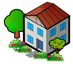 clipart iso city grey house 2