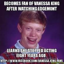 Vanessa Meme - becomes fan of vanessa king after watching edgemont learns she
