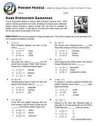 person puzzle calculating slope fauja singh worksheet fauja