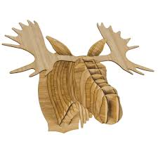fred the bamboo moose head antler home