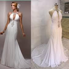 Halter Wedding Dresses Aliexpress Com Buy Mermaid Wedding Dresses 2017 Chiffon Bridal