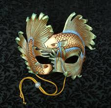 leather mardi gras masks iridescent fighting fish handmade original leather mask by