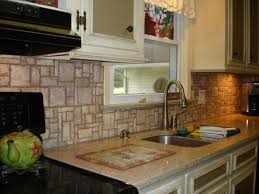 kitchen brightly white natural quartzite wall tile backsplash mosaic pattern natural stone backsplash ideas for kitchen combined with single handle high arc kitchen