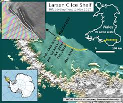 Antartica Map Part Of Antarctica U0027s Larsen C Ice Shelf May Soon Calve Into The