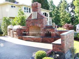 Outdoor Brick Fireplace Grill by Outdoor Brick Fireplace With Bbq Baker Masonry Llc 503 53 U2026 Flickr