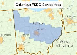 Map Of Columbus Ohio Area by Faa Gov Mobile