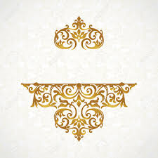Victorian Design Style by Vector Lace Pattern In Victorian Style On Scroll Work Background