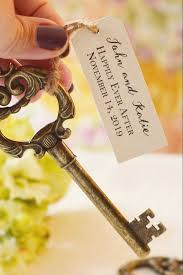 key bottle opener wedding favors key bottle opener favor with personalized tag antique gold the