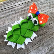 alligator for hair alligator ribbon sculpture hair clip toddler hair by leilei1202