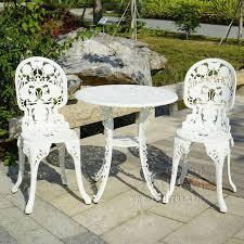 Outdoor Furniture 3 Piece by Aliexpress Com Buy 3 Piece Cast Aluminum Durable Tea Set Patio