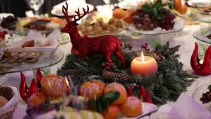Christmas Deer Table Decorations by Stages Preparation Alcoholic Celebratory Cocktail Festive