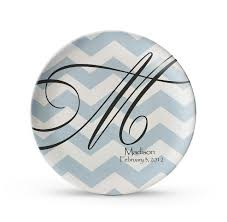 personalized dinner plate personalized plate chevron plate personalized monogram