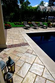 Flagstone Patio Cost Per Square Foot by Interior Unilock Natural Stone Price Concrete Paver