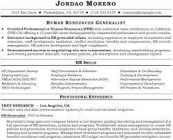 human resource generalist resume example resume templates
