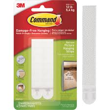 command picture hanging strips white large 12 sets of strips