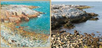 Map Of Maine Coast Art Meets Science To Map Where Boston Impressionist Childe Hassam