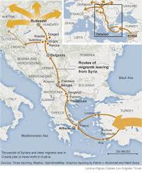 Map Greece by Fleeing Syria A Desperate Migration Los Angeles Times