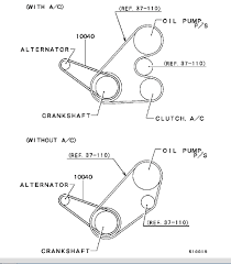 2001 mitsubishi mirage 1 8l serpentine belt diagram