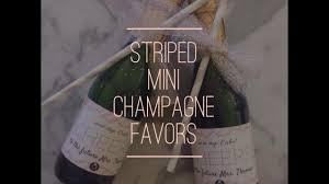 easy boy baby shower favors diy mini champagne bottles favors