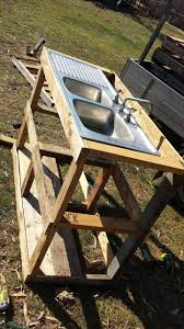 Diy Outdoor Sink Station by Pallet Outdoor Fish Filleting Station 101 Pallet Ideas