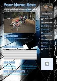 Motocross Sponsor Resume Mx Resumes U2013 My Action Images