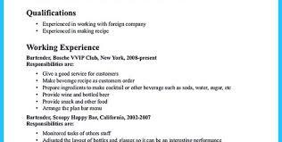 bartending resume examples bartender resume objective resume
