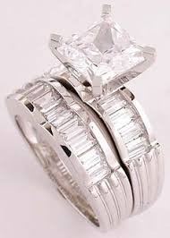 princess cut cubic zirconia wedding sets this wedding band matches the canadian ring sj008