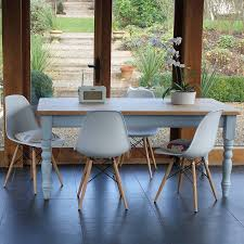 Eames Style Chair by Chilmark Table With Eames Style Chairs Farmhouse Table Painted