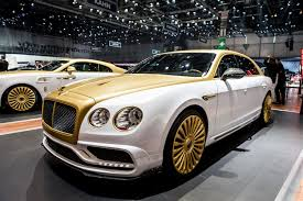 bentley coupe gold geneva 2016 mansory bentley flying spur
