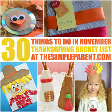 thanksgiving list for 30 things to do in november