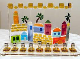 jerusalem menorah hanukkah menorah fused glass jerusalem menorah wedding