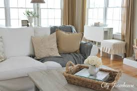 white slipcovers for sofa with a white slipcover keeping it pretty city farmhouse