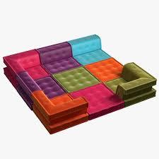 3d asset modular sofa mahjong cgtrader