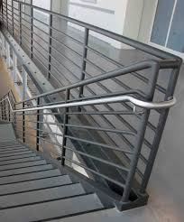 Banister Rails For Stairs Create Unique Metal Handrailings With Metal
