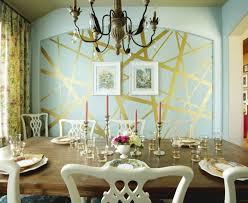 wandgestaltung gold geometrische formen tolle wandgestaltung mit farbe archzine net