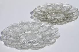 vintage deviled egg plates vintage pressed glass egg plates divided relish trays for deviled