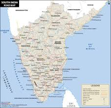 map of be south india road map road map of south india