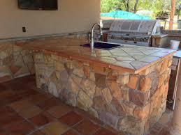 Outdoor Kitchen Countertops by Rustic Tile Kitchen Countertops U2013 Taneatua Gallery