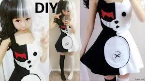 diy halloween costume half white and half black evil bear costume