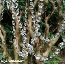 73 Best Deco Garland Images by 33ft 10m Fine Clear Acrylic Octagonal Beaded Christamas Strong