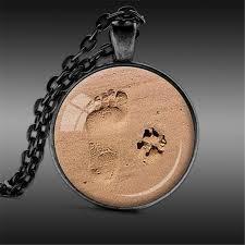 heart dog necklace images Footprints dog paw prints pendant necklace pup bling jpg