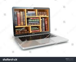 elearning education internet library book store stock illustration